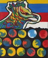 Gemälde - abstrakt - handgemalt Leinwand Acryl Malerei modern Relief Adler Vogel