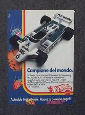 F302-Advertising Pubblicità- 1975 - HOT WHEELS WILLIAMS CAMPIONE DEL MONDO '82