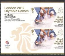 GB 2012 Olimpiadas/Deporte/ganadores de medalla de oro/canotaje/Baillie/Stott 2v + Lbl n35465a