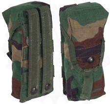 1(One) MOLLE II Woodland Camo Double Tactical Magazine Pouch Good Cond. USGI