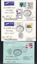 16064) AUA SF UNO Wien - Genf 1.11.82, 3 x ab SPA, R!