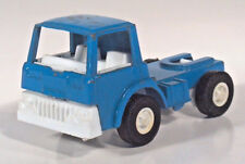 """Vintage 1970 Tootsietoy Blue Cab Semi Tractor 3.5"""" Diecast Scale Model"""