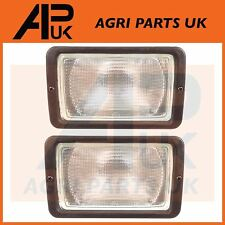 PAIR of JCB Parts 3CX 4CX Front Working Light Work Lamp with Bulb p/n 700/31800