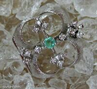 Perlenkettenverschluss Verschluss für Ketten Colliers mit Smaragd aus Gold .