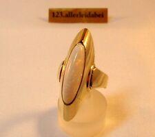 Zauberhafter Schiffchenring Opal Ring 333 er Gold Vollopal / AW 107