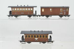 Liliput 009 Scale - Rake of 3 Zillertalbahn Coaches - Boxed