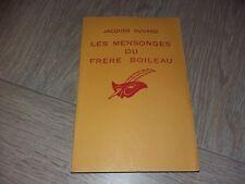 LES MENSONGES DU FRERE BOILEAU / JACQUES OUVARD