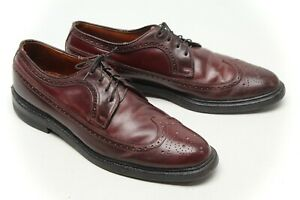 VTG Footjoy Shell Cordovan Mens Longwing Bluchers Shoes 9.5 AAA/A Wingtips
