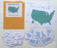 Teacher Made Social Studies Center Educational Resource Game Naming States