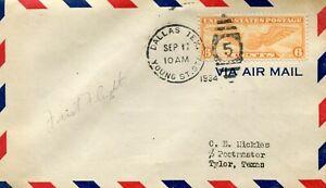 Delta Airlines First Flight Dallas Texas - Tyler Texas - 1934