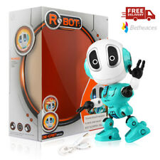 Blue Mini Talking ROBOT TOY Gift with Voice & LED Light For Kids boys girls