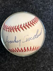 Sparky Anderson  AUTOGRAPHED AMERICAN LEAGUE-GENE BUDIG BASEBALL- HOF MANAGER