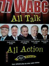 77 Wabc Curtis & Kuby Rush Limbaugh Sean Hannity John Gambling Original Print Ad