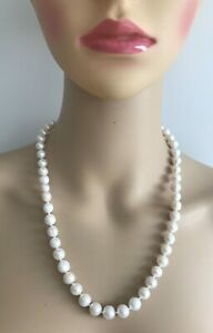WOMEN'S REAL PEARL 9-10mm Size 100% Genuine Freshwater Cultured Pearl Necklace