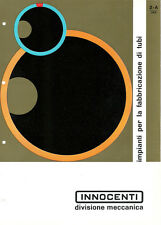 Depliant Brochure Innocenti Impianti Fabbricazione Tubi 1961 ORIGINALE