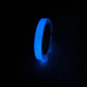 Nastro adesivo si illumina al buio fosforescente fotoluminescente 10mm X 10M blu
