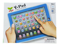 English Ypad Educational Learning Machine Tablet Computer Toy Kids Children Blue