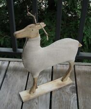 Reindeer Deer Sculpture STATUE*Primitive/French Country Farmhouse Decor