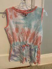 Girl's KensieGirl Tie-Dye Romper - Size Large (14/16)