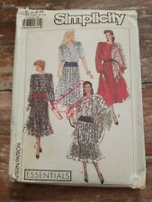 Simplicity Sewing Pattern 9248 Misses Dress & Scarf Sizes 6,8,10,12,14 UNCUT