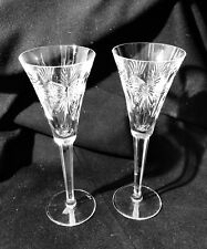 2 Waterford Crystal Millennium 5 Toasts Universal Toasting Flutes Champagne Etc