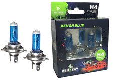 H4 Xenon Optik Auto Lampe Birne Super White Halogen Blau 55W 12V 2 Stück