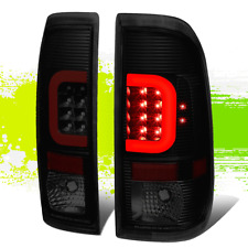 2PCS BLACK SMOKED 3D LED RED C-BAR TAIL LIGHT FOR 09-16 FORD F350/F450 L&R SIDE