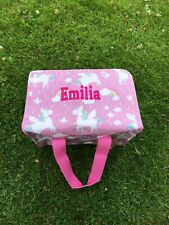Personalised Rainbow Unicorn Lunch Bag Sass And Belle