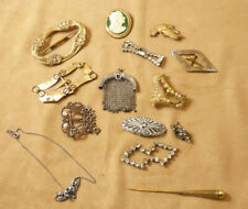 Lot Bijoux anciens broche collier attache foulard dont collier ras de cou Argent