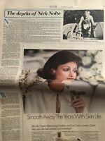 W Fashion Magazine Sept 1976 Nick Nolte, Mexico, Chanel + Christian Dior Ads