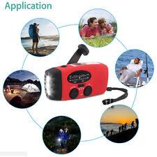 Emergency Solar Wind Up Hand Crank 3 LED Flashlight AM/FM Weather Radio