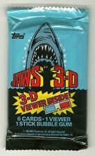 Jaws 3-D Movie Trading Cards (Topps, 1983) w/ 3D Viewer