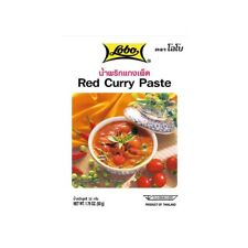 Lobo Rouge Thaï Curry Pâte Rouge Curry Thaïlande 50 G Thaicurry Condiment