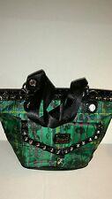 Betseyville Black &Green Plaid motif hand bag Shoulder bag