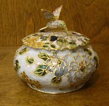 Victorian Treasures #A23-1 HUMMINGBIRD JAR, Pale Blue, NEW from Retail Shop