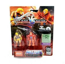 He-Man vs Beast Man Mega Construx Masters Of The Universe Figures Set New