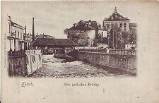 Switzerland AK Zurich Zürich Alte Gedeckte Brucke undivided back unused postcard
