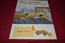 Allis Chalmers Industrial Backhoe Mark Ten Dealer's Brochure YABE9 ver8