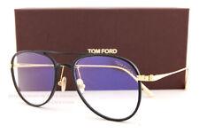 Brand New Tom Ford Eyeglass Frames FT 5666-B 002 Black/Gold For Men Size 52mm