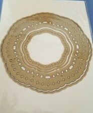 "Anna Griffin Reticulated Border Frame Die 5"" Round"