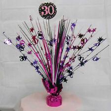 30th Birthday Spray Centrepiece Table Decoration Black Pink Purple Age 30 Party