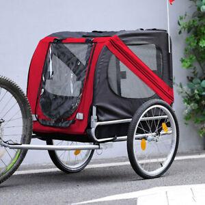 Large Bike Trailer For Pet Dog Stroller Hitch Step Removable Cover Jogging Kit