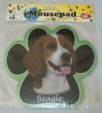 BEAGLE Black Dog Paw Shaped Computer MOUSE PAD Mousepad NEW IN PACKAGE