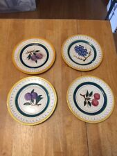 4 Stangl Pottery Salad Plates Cherry 2 Plum Grapes 8""