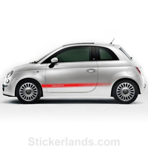 Sticker for FIat Abarth sticker 500 595 Racing stripes Abarth side sticker decal