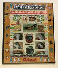 "TRIBUTE TO NATIVE AMERICAN INDIANS - 15 DIFFERENT U.S. STAMPS - ""TRAIL OF TEARS"""