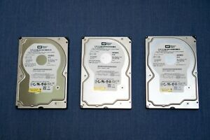 "LOT of 3 Western Digital RE WD2500YS 250GB 3.5"" 7200RPM Hard Drives"