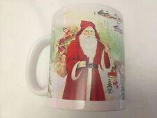 Tazza in Ceramica Babbo Natale - Natalizia - Babbo Natale Renne 2- 10cm -  Nuova