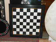 2'x2' MARBLE COFFEE DINING SIDE CORNER CENTER CHESS TABLE TOP MOSAIC INLAY WORK
