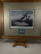 Rare Vintage National Waterfowl by L. Kouba Stamp & Print Signed Collector's Ed